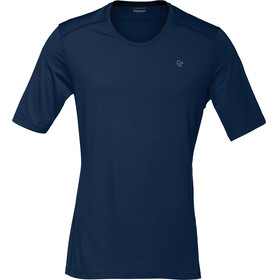 Norrøna Wool T-Shirt Men Indigo Night/Scarlet Ibis